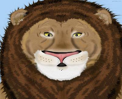 Prideful Lion Original by Mike Sexton