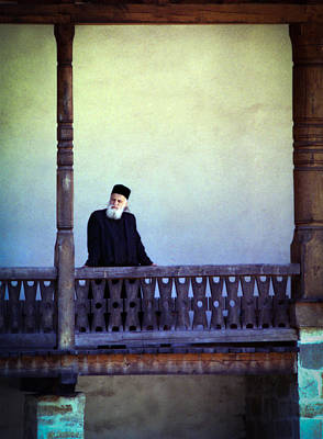 Photograph - Priest At Bistrita Monastery by Emanuel Tanjala