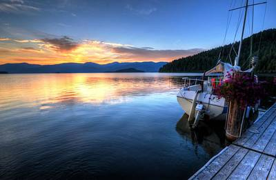 Photograph - Priest Lake Awakens by Matt Hanson