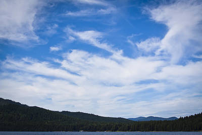 Water Photograph - Priest Lake Clouds II by David Patterson