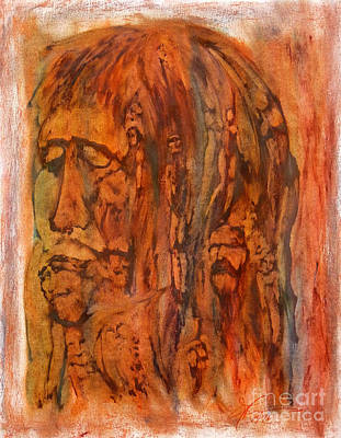Primal Ancestry Art Print by Linda May Jones