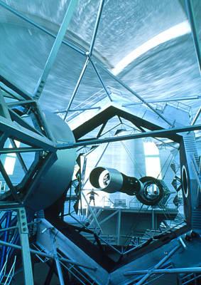 Keck Photograph - Primary Mirror Of The Keck II Telescope, Hawaii by David Nunuk