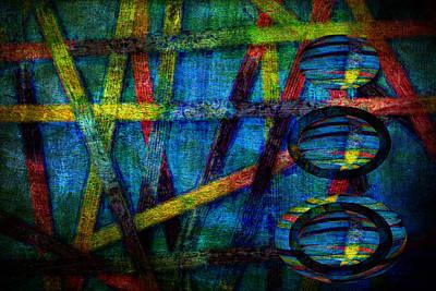 Primary Three Rectangle Art Print by Angelina Vick