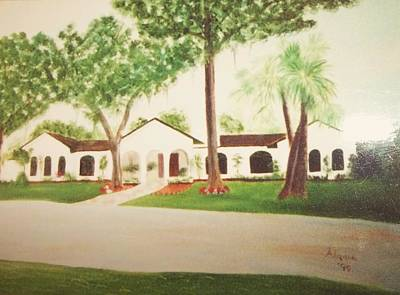 Prince Faisal's Home In Fl Art Print by Alanna Hug-McAnnally