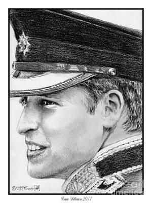 Greyscale Drawing - Prince William In 2011 by J McCombie