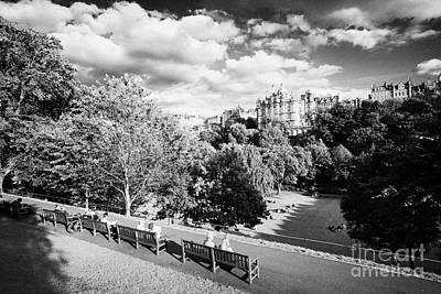 Princes Street Gardens In Edinburgh City Centre Scotland Uk United Kingdom Art Print by Joe Fox