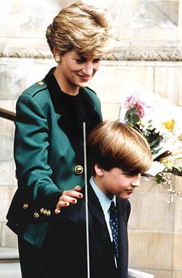 Princess Diana Photograph - Princess Diana And Son Prince William by Everett