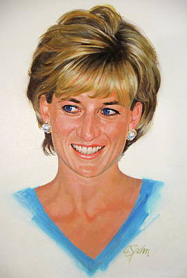 Painting - Princess Diana by Cliff Spohn