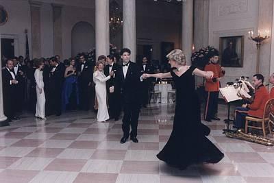 Princess Diana Dancing With John Art Print by Everett