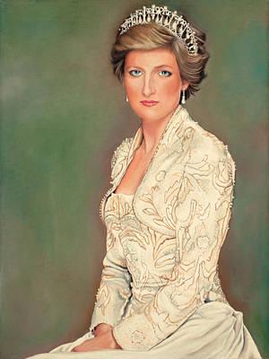 Princess Diana Art Print by Douglas Fincham
