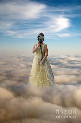 Princess In Gas Mask 3 Art Print by Jill Battaglia