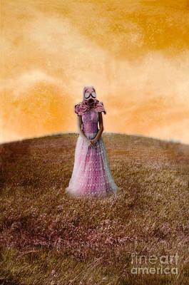 Princess In Gas Mask Art Print by Jill Battaglia