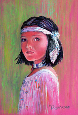 Indian Cultural Painting - Princess Of The Plains by Tanja Ware