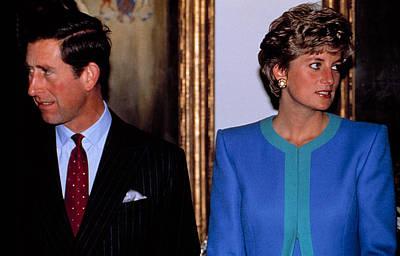 Princess Diana Photograph - Princesslady Diana Spencer, With Prince by Everett