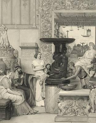 Tadema Photograph - Print Based On A Lawrence Alma Tadema by Everett
