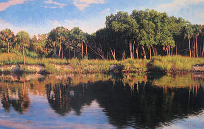 Painting - Print Coastal River Journey by Michael Story