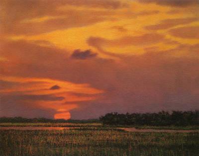 Painting - Print Crimson Sun by Michael Story