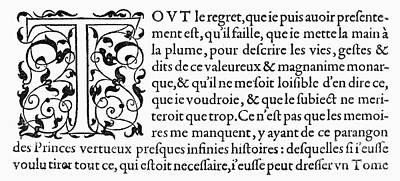 Photograph - Printing Initial, C1584 by Granger