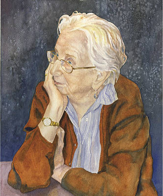 Gray Hair Painting - Priscilla My Mother by Anne Gifford
