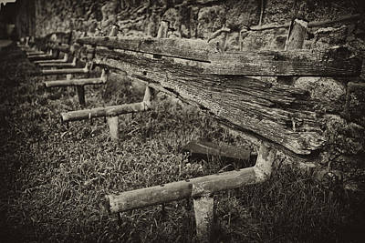 Black And White Photograph - Prison Bench by Darren Creighton