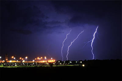 Lightning Photograph - Prison Storm by Ethan  Bryant