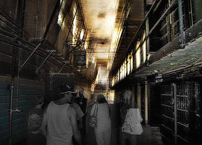 Creepy Mixed Media - Prison Tour 1 - Wyoming Frontier Prison by Steve Ohlsen