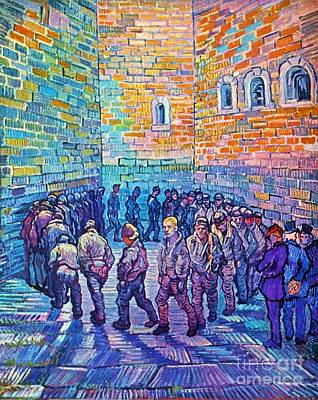Prison Painting - Prisoners Walking The Round by Pg Reproductions