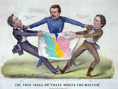 Pro-mcclellan Cartoon Shows Lincolns Print by Everett