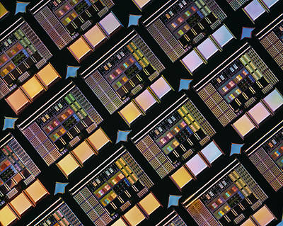 Production Of Integrated Circuits Art Print