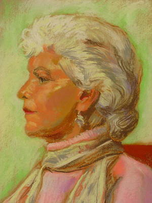 Pastel - Profile Of A Lady by Sid Solomon