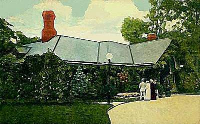 Painting - Prospect Park Cafe Brooklyn N Y 1908 by Dwight Goss