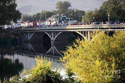 Photograph - Prosser Bridge During The Balloon Rally by Carol Groenen