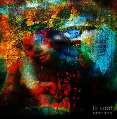 Property Mixed Media - Protected - God Is Watching Evil Watching Me by Fania Simon