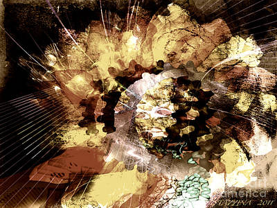 Art Print featuring the digital art Protein Art by Danica Radman
