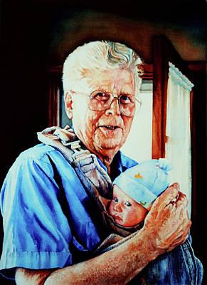 Proud Grandpa Art Print by Hanne Lore Koehler
