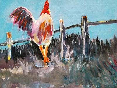 Painting - Proud Rooster  by Gary Partin