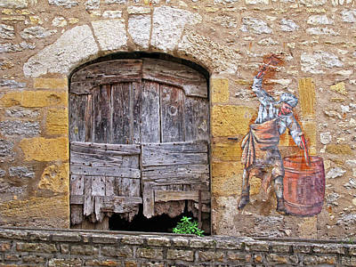 Art Print featuring the photograph Provence Window And Wall Painting by Dave Mills