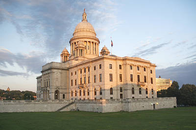 Photograph - Providence Capitol At Sunset by Barry Doherty
