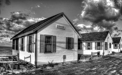 Photograph - Provincetown Cottages Bw by Lucia Vicari
