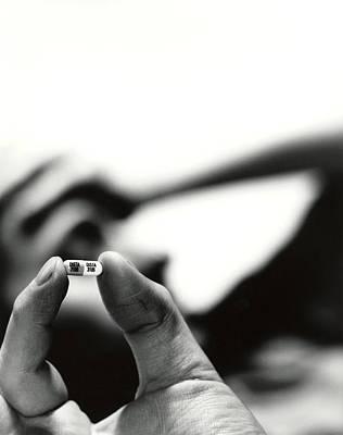 Prozac Photograph - Prozac Antidepressant Capsule by Cristina Pedrazzini