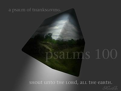Photograph - Psalms 100 by Miriam Shaw