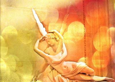 Psyche Revived By Cupid's Kiss Art Print by Marianna Mills