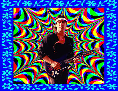 Photograph - Psychedelia Within A Blue Framework by Ben Upham