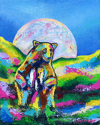Painting - Psychedelic Bear by Lori Miller
