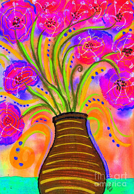 Painting - Psychedelic Bouquet by Angela L Walker