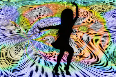 Psychedelic Dancer Art Print by Bill Cannon