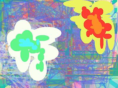 Psychedelic Drips Visit The Water Lilies Art Print