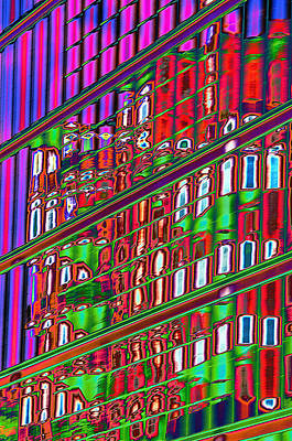 Psychedelic Reflection Of Barcelona 12 Print by Richard Henne