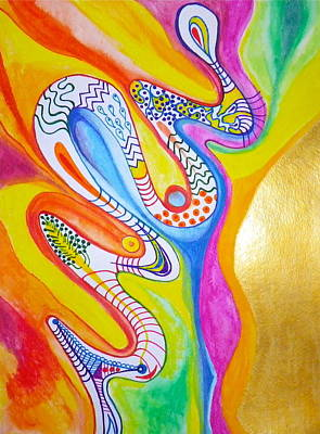 Painting - Psychedelic Snake by Erika Swartzkopf