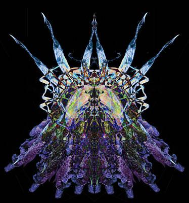 Psychedelic Spines Art Print by David Kleinsasser